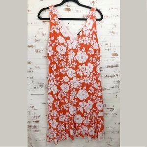 Tommy Bahama Floral Shift Dress Orange/White